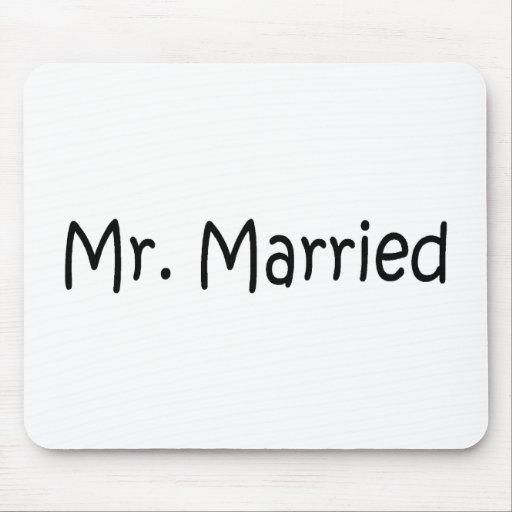 Mr Married Mousepads