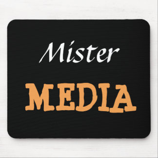 Mr Media Male Journalist Editor Funny Nickname Mouse Mat