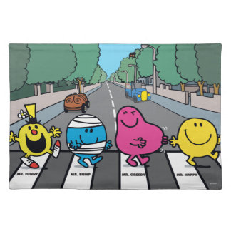 Mr. Men Abbey Road Walkers Placemats