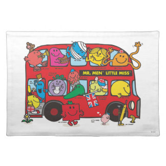 Mr. Men & Little Miss Crowded Bus Placemat
