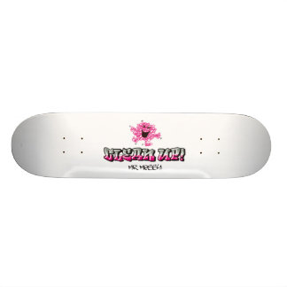 Mr. Messy Says Clean Up Custom Skateboard