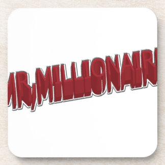 MR Millionaire Red 3 Dimension Beverage Coasters