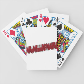 MR Millionaire Red 3 Dimension Bicycle Playing Cards