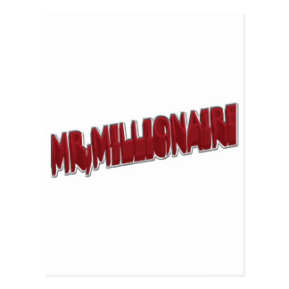 MR,Millionaire Red 3 Dimension Postcard