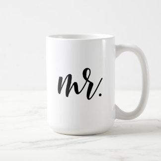 Mr. Modern Script Classic White Coffee Mug