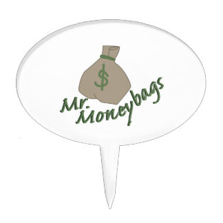 Mr. Moneybags Cake Topper