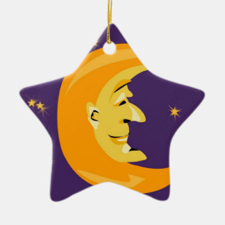 Mr Moon Cover Christmas Ornament