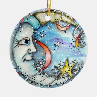 Mr Moon Ornament