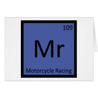 Mr - Motorcycle Racing Sports Chemistry Symbol Card