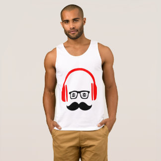 mr. moustache deejay Tank Top