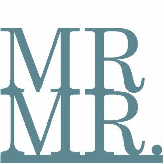 Mr & Mr Cake Topper Cut Outs