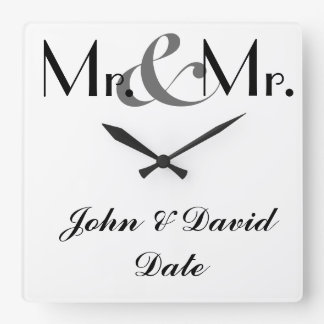 Mr. & Mr. Custom GAY MEN'S Clock Gift