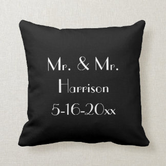 Mr. & Mr. Gay Wedding Anniversary Cushion