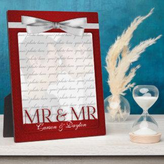 Mr & Mr Gay Wedding Photo Frame in Red