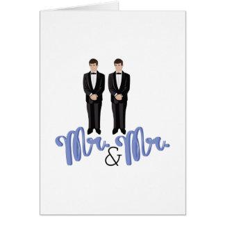 Mr.& Mr. Greeting Card