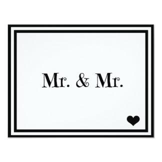 Mr. & Mr. 11 Cm X 14 Cm Invitation Card