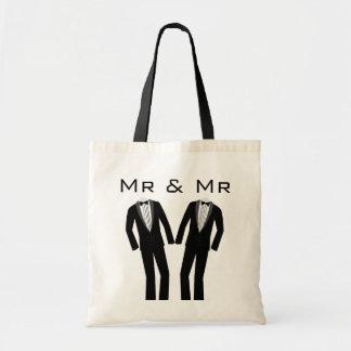 Mr & Mr Keepsake Tote Budget Tote Bag