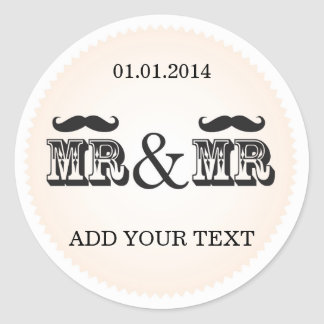 Mr & Mr Moustache (Mustache) Wedding gay Sticker