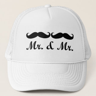 MR & MR MUSTACHE GAY MARRIAGE HAT