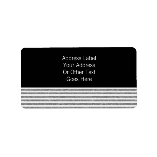 Mr & Mr Text Template Personalised Address Label