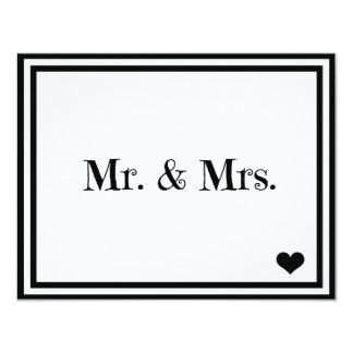 Mr. & Mrs. 11 Cm X 14 Cm Invitation Card