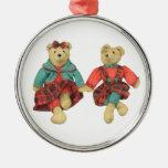 Mr. & Mrs. Bear Premium Round Ornament