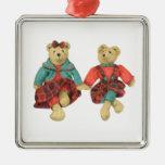 Mr. & Mrs. Bear Premium Square Ornament