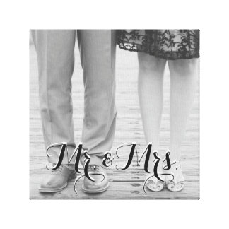Mr. & Mrs. Black and White Canvas
