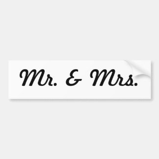 Mr. & Mrs. Bumper Sticker