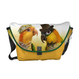 Mr & Mrs Caique Realistic Painting Commuter Bags