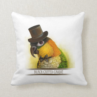 Mr & Mrs Caique Realistic Painting Cushion