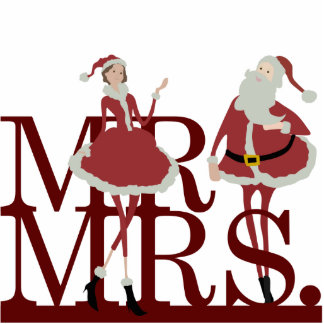 Mr Mrs Claus Cake Topper Cut Out