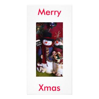 mr. & mrs. claus customized photo card