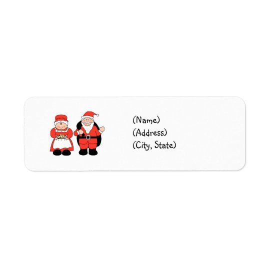 Mr. & Mrs. Claus Personalised Return Address Label