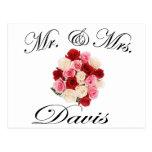 Mr & Mrs. Davis Postcards