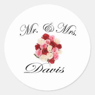 Mr & Mrs. Davis Stickers