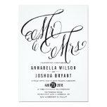 Mr. & Mrs. Elegant Script   Wedding Invitation
