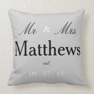 Mr & Mrs est. pillow