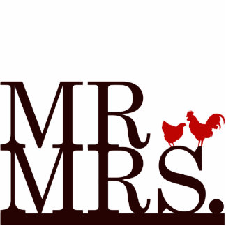 Mr & Mrs Farmer Cake Topper Cut Out