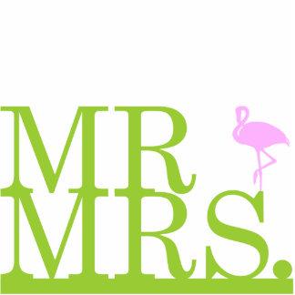 Mr & Mrs Flamingo Cake Topper Photo Sculptures