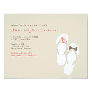31b4c7561dddfa Mr   Mrs Flip Flops Beach Wedding Reception Card