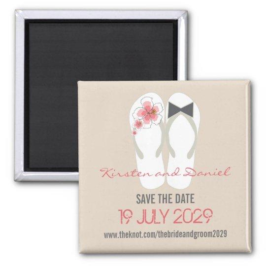 Mr & Mrs Flip Flops Wedding Save The