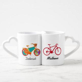 mr mrs his her bicycles coffee mug set