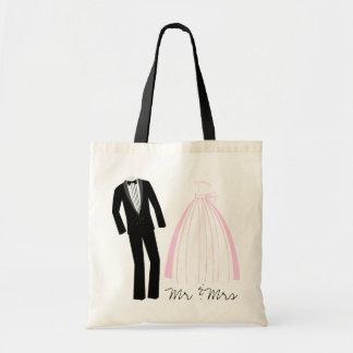 Mr Mrs Keepsake Tote Bags