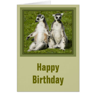 Mr & Mrs Lemur Birthday Card