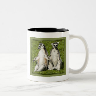 Mr & Mrs Lemur Two-Tone Coffee Mug