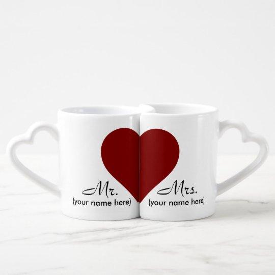 Mr & Mrs Lover's Coffee Mugs
