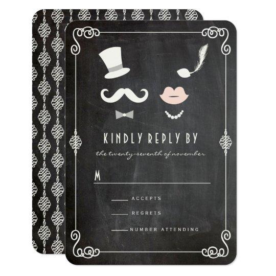 Mr & Mrs Moustache Lips Vintage Chic Wedding
