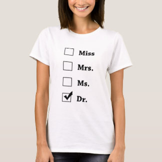 mr mrs ms dr shirt