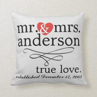Mr. & Mrs. Pillow Cushion